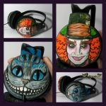 Cheshire Cat and Mad Hatter headphones by Lipwigs
