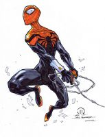 Superior spidey sketch inks redone markers by JoeyVazquez