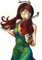 The Violinist by Lathrin
