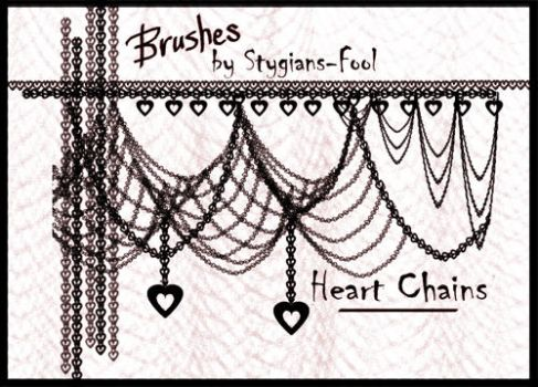 Heart Chain Brushes by Stygians-Fool