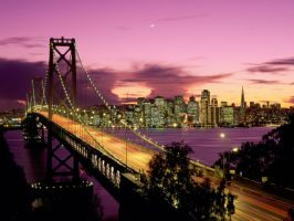 San Francisco at dusk by The-Zen-Warrior