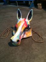 Watercolor Horse Mask 1 by LaunaEddy