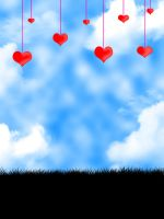 Hearts in the Sky1 by SimplyBackgrounds