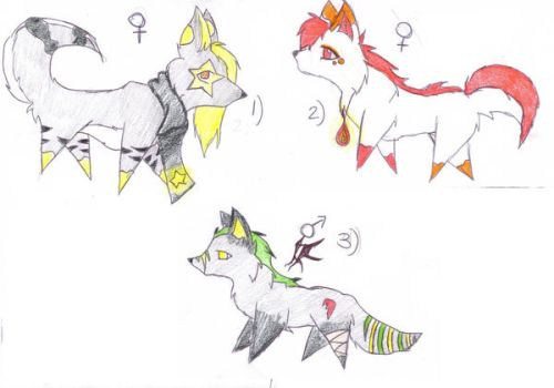 adoptables for clubsparkeldog. by Lexi-Loveless