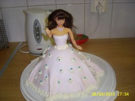 Barbie cake 2 by Happylovelycherry