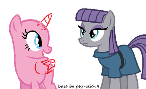 Oc and Maud Pie - MLP Base by Pastel-Pocky