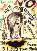 5/1/2013 doodle page: Andy Biersack based by Neon-Silvar