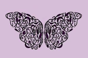 Butterfly Wings Tattoo Design by pixistixs