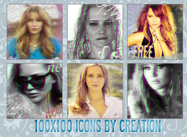 Jennifer Lawrence 100x100 icons by byCreation
