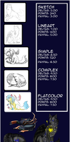 Comission prices sheet by camychan