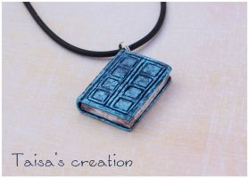 Tiny River Song's Diary Pendant by Taisa-Winged