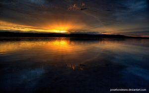 Lake Macquarie Sunset by jonathondeans
