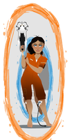 Portal - Chell by kyoukorpse