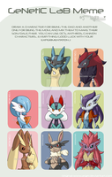Genetic Lab Meme ::Fakemon:. by PEQUEDARK-VELVET