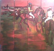 Degas' Racehorses by trickypink