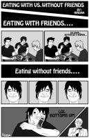 Eating with vs. without friends by kinsha-san