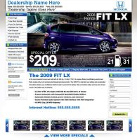 Honda Car Special Web Design by xstortionist