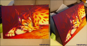 Red Lynx - Fabric Print! by Neotheta