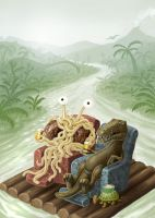 flying spaghetti monster cover by Vaghauk