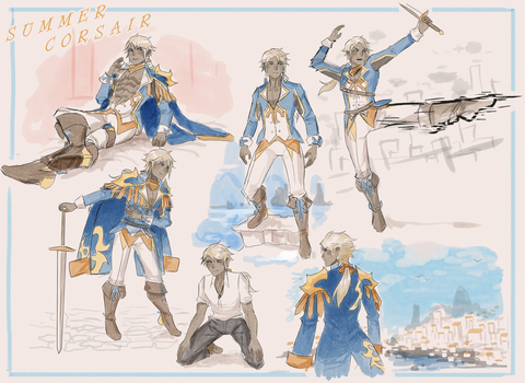 Summer Corsair Sketchpage by 3-X-E