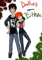 Eithne and Dallas by TeaCup-Monster