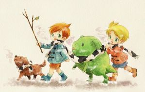 MOTHER3 Twins of the winter by ichiyon