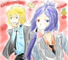 Kufufu no fu - Dino and Mukuro by Equestrian-Equine
