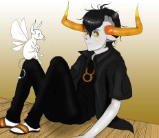Tavros and Tinkerbull by SeiaraL