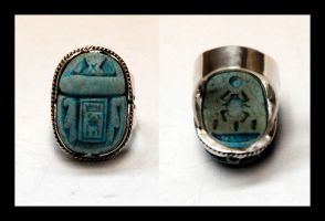 Scarab Ring by manwithashadow