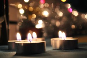 Four Candles + Bokeh by kato9stock