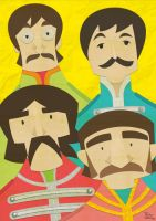 Paper Beatles by tskrening