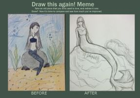 Draw This Again: Mermaid by iFerneh