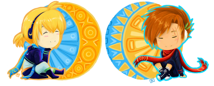 Sun and Moon Brothers by Zaleho