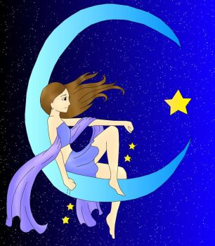 Girl on the Moon by MMemmyMM