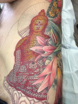 sacred geometry Buddha in progress by TimOrth