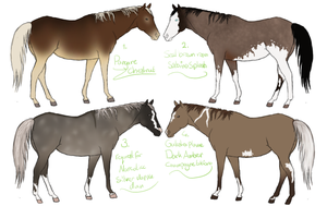 Real Horse Adopts 4 CLOSED by ItsDirrtyArt