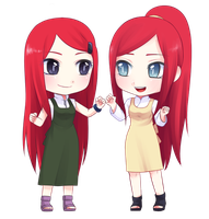 Kushina and her mother by Rarity-Princess