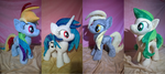 Ponies (all sold) by Zombies8MyWaffle
