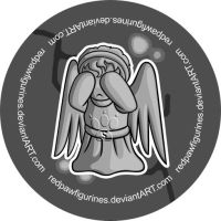 Weeping Angel Chibi Badge by RedPawDesigns