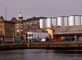 Four White Buildings with a View by DundeePhotographics