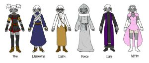 Drow Mage Concepts by FlykyrSkysong