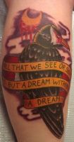 Edgar Allen Poe Tattoo~ by xXDemonDragon13Xx
