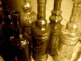 Old Bottles by Madette