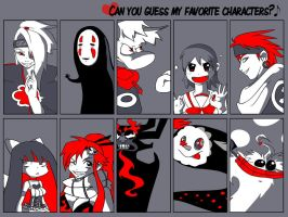 Can you guess my favourite characters? by oh-my-kokoro