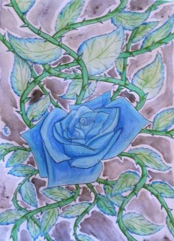 Blue Rose by doodledragon1500