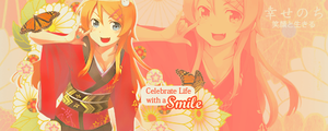 Celebrate Life with a Smile by Manga-Wolf