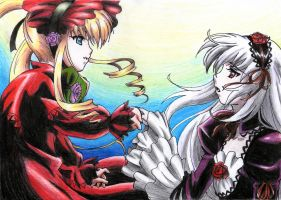 Shinku And Suigintou by Sanarar71