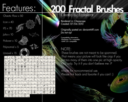 200 Fractal Brushes Set by Ecclesiocrat