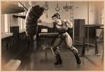 A Practicing Pugilist (Sepia) by SimonLMoore
