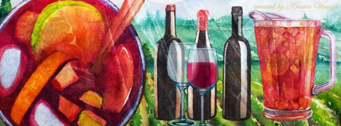 Summer Wine and Sangria Facebook Cover by CrystalKittyCat